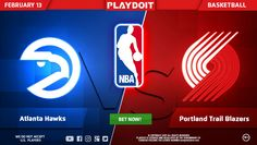 Have a great Monday betting and winning on Playdoit: Atlanta Hawks vs Portland Trail Blazers! 🏀 Join now and bet on NBA! 😉