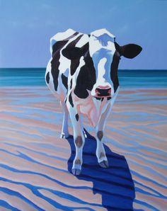 cow ... on a beach?