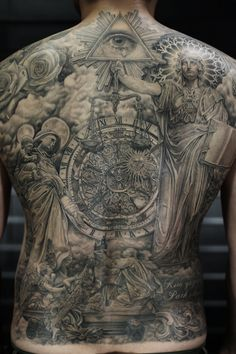 Full Backpiece Black And Grey Statue Tattoo Mue Ink Work for dimensions 2872 X 4308 Black And Grey Full Back Tattoos - If you are looking at receiving a 3d Tattoos, Unique Tattoos, Beautiful Tattoos, Body Art Tattoos, Tattoos For Guys, Sleeve Tattoos, Chest Piece Tattoos, Chest Tattoo, Religious Tattoo Sleeves