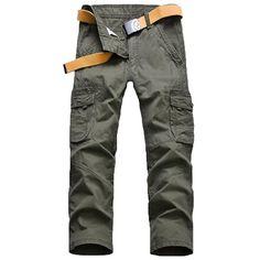 #BangGood - #Eachine1 Loose Cargo Pants Mens Outdoor Casual Cotton Multi Big Pocket Trousers - AdoreWe.com