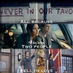 The hunger games all because two people fell in love