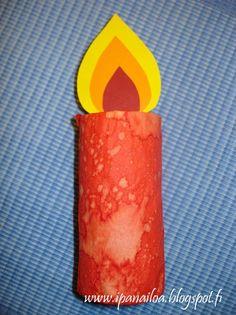 askartelua: joulu, kynttilä, vessapaperirulla  http://ipanaaskartelua.blogspot.fi/2010/11/poytakynttila.html
