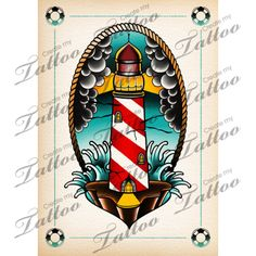 lighthouse tattoo illustration digital art by Kaifa's studio tattoo