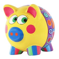 Naif Painting For Kids, Art For Kids, Crafts For Kids, Arts And Crafts, Pottery Painting, Ceramic Painting, Pig Bank, Penny Bank, Apple Festival