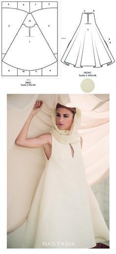 Patrón vestido de invitada zero waste