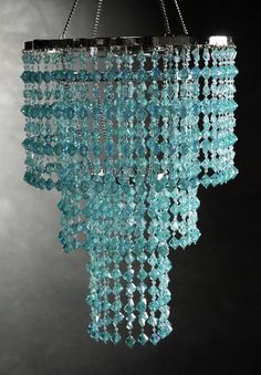 Tiffany Blue 3 Tier Crystal Chandeliers Light (16 long) $44