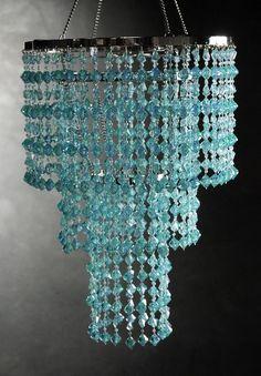 Crystal Chandelier Aqua 3 Tier