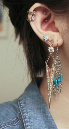 Love combination of the earrings