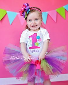 Cute as a Button Birthday Tutu Outfit...order at www.ticklemytutu.com