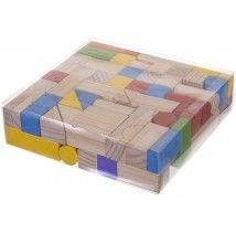 Jeu de 100 cubes en bois