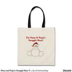 Nana and Papa's Snuggle Bear T-shirts and Gifts Budget Tote Bag