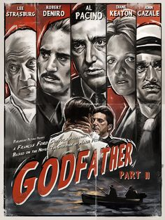 The Godfather Part II - Film Noir Poster by Robert Bruno, via Behance Best Movie Posters, Classic Movie Posters, Cinema Posters, Movie Poster Art, The Godfather Part Ii, Godfather Movie, The Godfather Poster, Mafia, Der Pate Poster