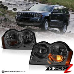 [SMOKE] 2005 2006 2007 Jeep Grand Cherokee WK Tinited Front Headlights Assembly | eBay Motors, Parts & Accessories, Car & Truck Parts | eBay!