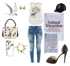 """""""Animals with first letter A"""" by agnesmakoni ❤ liked on Polyvore featuring Giancarlo Petriglia, Casetify, Top of the World, Christian Louboutin, Ted Baker, Rembrandt Charms, ant, arctic, armadillo and Anteater"""