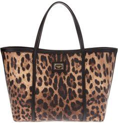 dolce   gabbana Leopard Shopping Tote - Lyst 0768ae0a3706f