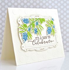 A Day To Celebrate Card by Michelle Leone for Papertrey Ink (March 2017)
