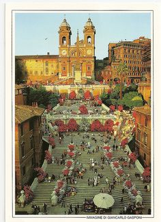Italy, Roma. Spanish steps. Postcard Edizioni INDACO S.N.C. Photo by Giancarlo Gasponi. Postcrossing IT-32822, thank you Francina.