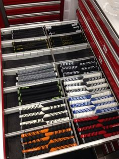 "March 31, 2014: ""The Titleist tour van is stocked this week for the Shell Houston Open!,"" said Golf Pride Grips as it, naturally, explores the grip drawer."
