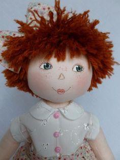 """CHLOE. A 15"""" rag/cloth, handmade, original doll by Brenda Brightmore. in Dolls & Bears, Dolls, Clothing & Accessories, Rag & Cloth Dolls   eBay"""