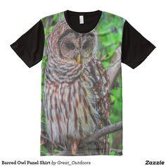 Barred Owl Panel Shirt