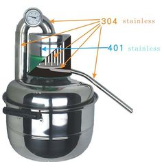 New 10L Stainless Alcohol distiller Moonshine Still Home Brew kit Oil Boiler