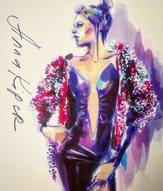 Markers, colored pencils, and white-paint pen. #annakiper #fashion #drawing #design #instaart #drama #illustration #image #drawadot #model #mood #figuredrawing #fashionillustration #art #beautifulbizarremagazine #beautiful #beauty #sexy #sketch #colour #color #couture #фэшн #мода #рисунок #дизайн #иллюстрация # модель