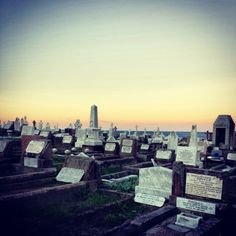 Cemetery overlooking the sea - this spot is one of a kind. Waverly cemetery in Sydney
