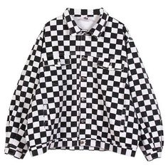 Checker Jacket (11 KWD) ❤ liked on Polyvore featuring outerwear, jackets, checked jacket and checkered jacket