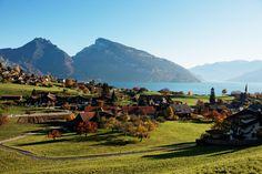 Autumn in Faulensee at Lake Thun #lakethun #interlaken #switzerland