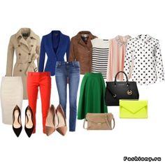 Базовый гардероб на весну (15 предметов+12 образов) / базовый гардероб 21 века для девушки
