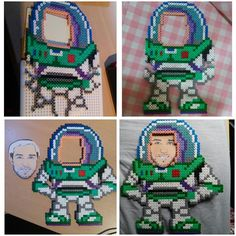 Buzz photo frame - Toy story hama beads by rujones182