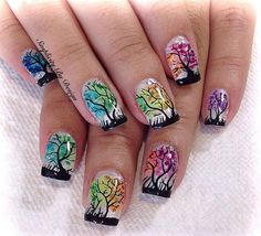 Fall Nail Designs - My Cool Nail Designs School Nail Art, Back To School Nails, Fall Nail Designs, Cute Nail Designs, Seasonal Nails, Short Nails Art, Autumn Nails, Fabulous Nails, Creative Nails