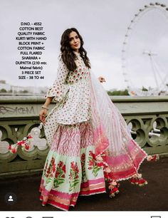 Indian Bollywood Designer Stylish Printed Kurti And Sharara | Etsy