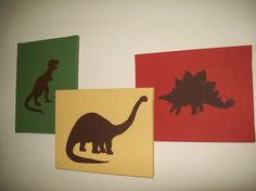This would be SO MUCH easier than a mural...dinosaur bedroom.