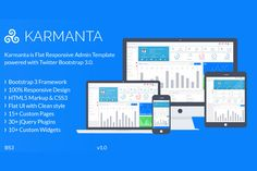 Karmanta-Responsive Admin Template by BootstrapStar on Creative Market