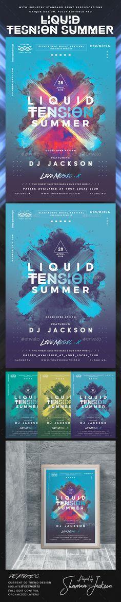 Liquid Tension Summer DJ Flyer