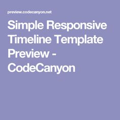 Simple Responsive Timeline Template Preview - CodeCanyon