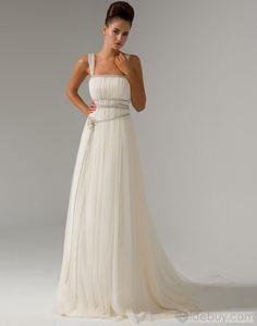 Splendid Sheath/Column Square Floor-Length Watteau Train Pin Wedding Dresses…