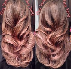 Rose gold highlights Guy Tang - helps to also have nice hair but this guy is a genius.