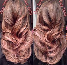Like the Rose Gold for subtle peekaboo highlights against dark hair.