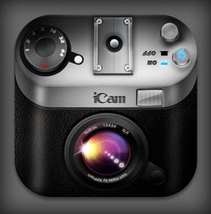 realistic iOS camera icon