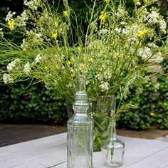 It's a beautiful day. The sun is shining. Beautiful Day, Glass Vase, Floral, Flowers, Green, Plants, Decorations, Sun, Home Decor