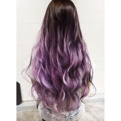 Lilac Ash Two-Toned Hair Color