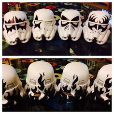 KISS -Star Wars Storm Trooper Helmets -The Hottest Band in the Galaxy!