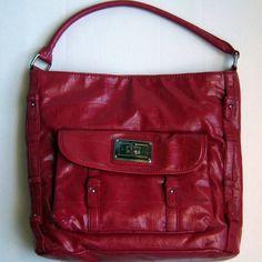 Tyler Rodan Handbag Province Hobo Tote Red Faux Croc Leather Cheetah Lining #TylerRodan #TotesShoppers