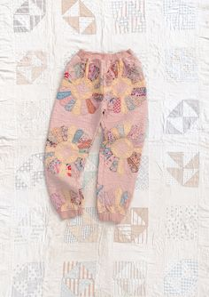 The Quilt Sweats are made from one-of-a-kind vintage quilts and has ... Blanket Jacket, Two Toned Jeans, Pink Quilts, Embroidered Quilts, Have A Good Weekend, Check Coat, Vintage Quilts, Organic Cotton, How To Wear