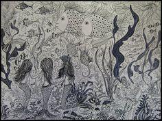 GALERIA PALOMO MARIA: FONDO MARINO II Moose Art, Animals, Literatura, Scenery, Pintura, Animales, Animaux, Animal, Animais