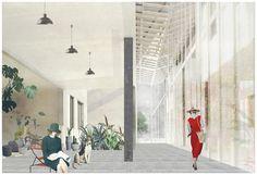 Finding A Balance_Exploring Architectural Narratives   Mengyao Han, interior artistic render perspective