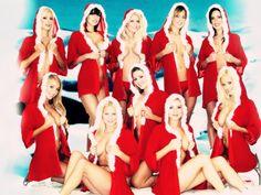 Sexy Santa Playboy Girls Wishing Merry Christmas - you69.com