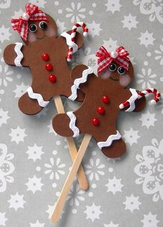 Christmas Lollipops-Gingerbread Girl With by sarasscrappin on Etsy